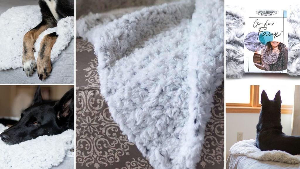 Faux Fur Crochet Blanket for Dogs