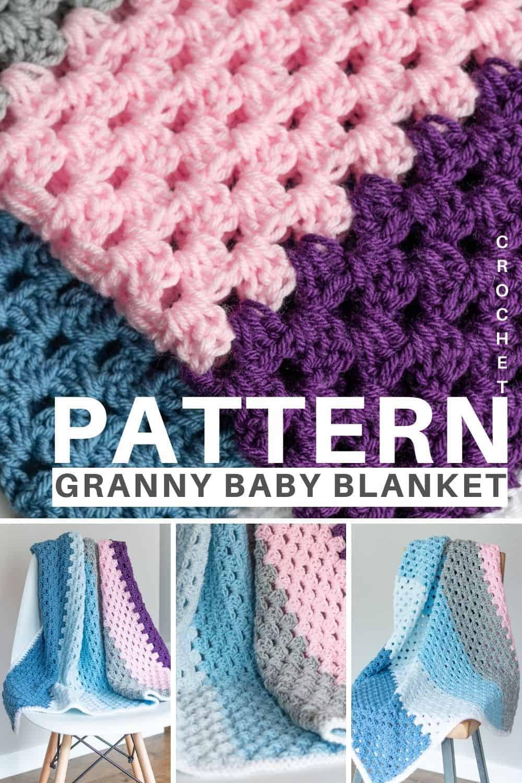 Granny Crochet Baby Blanket Pattern