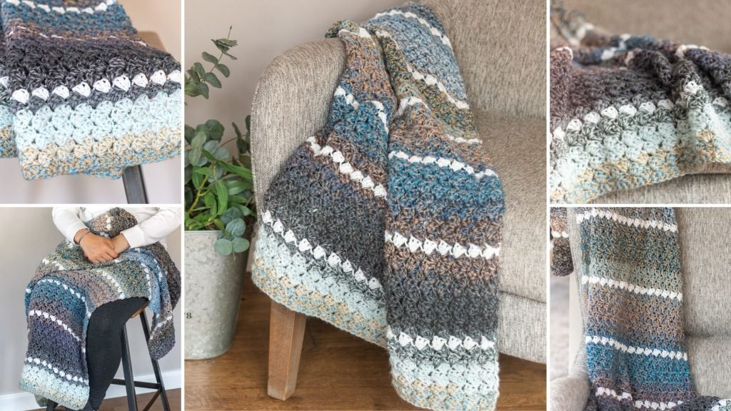 how to crochet a lap blanket pattern