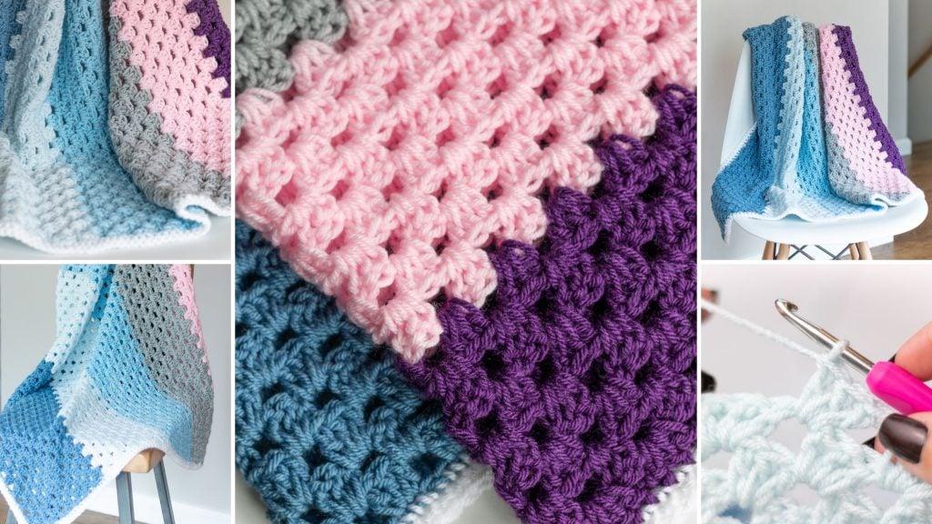 Granny Stitch Baby Blanket Pattern Easycrochet Com