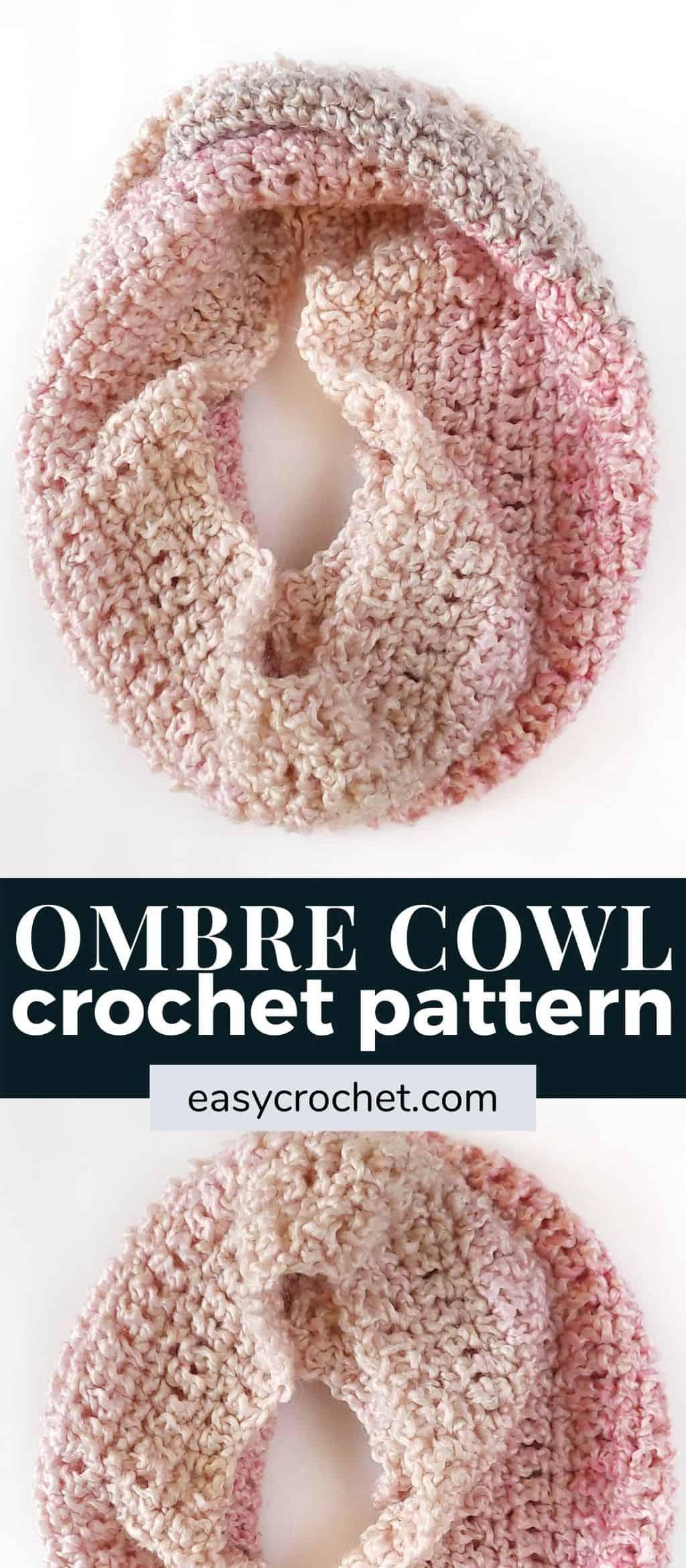 ombre cowl crochet pattern via @easycrochetcom
