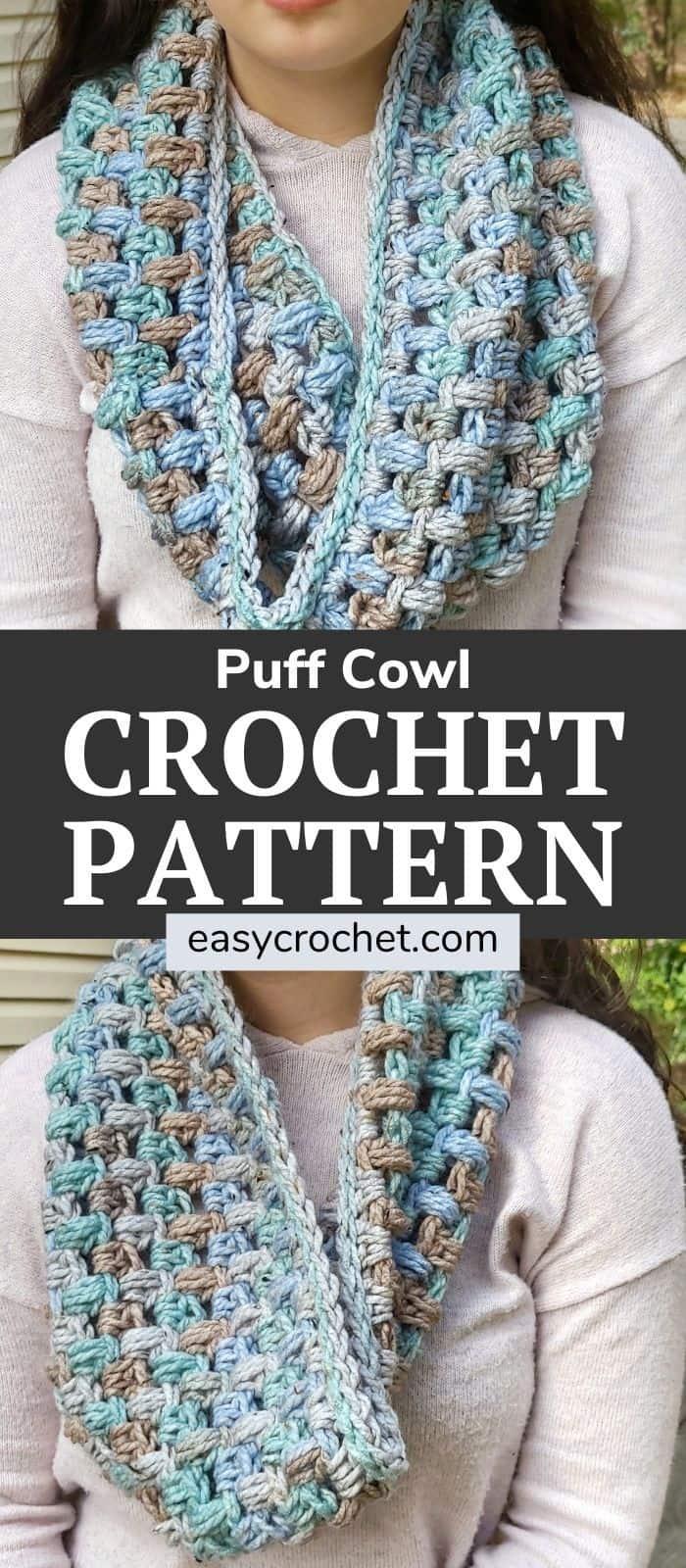 Williams Puff Cowl Crochet Pattern via @easycrochetcom