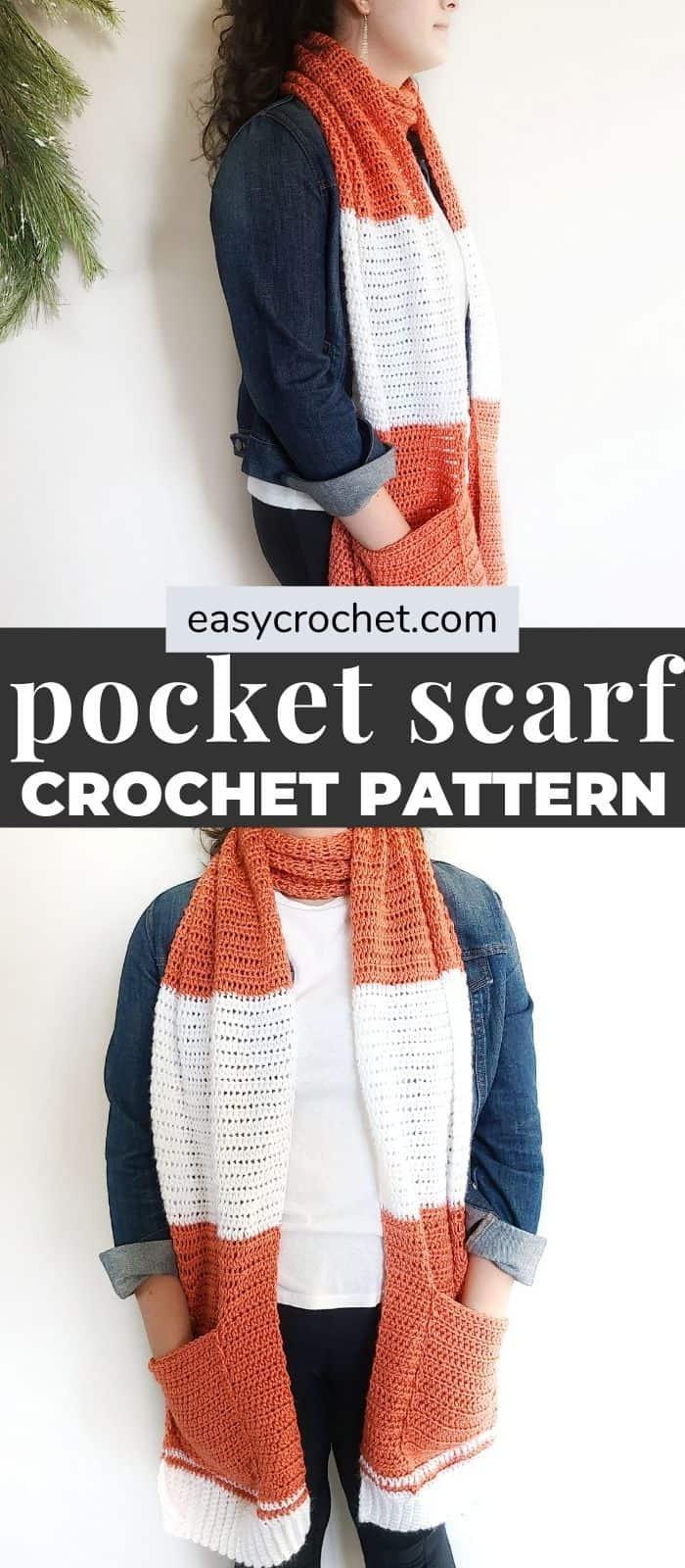 Pocket Shawl Crochet Pattern from EasyCrochet.com a FREE crochet pattern. via @easycrochetcom