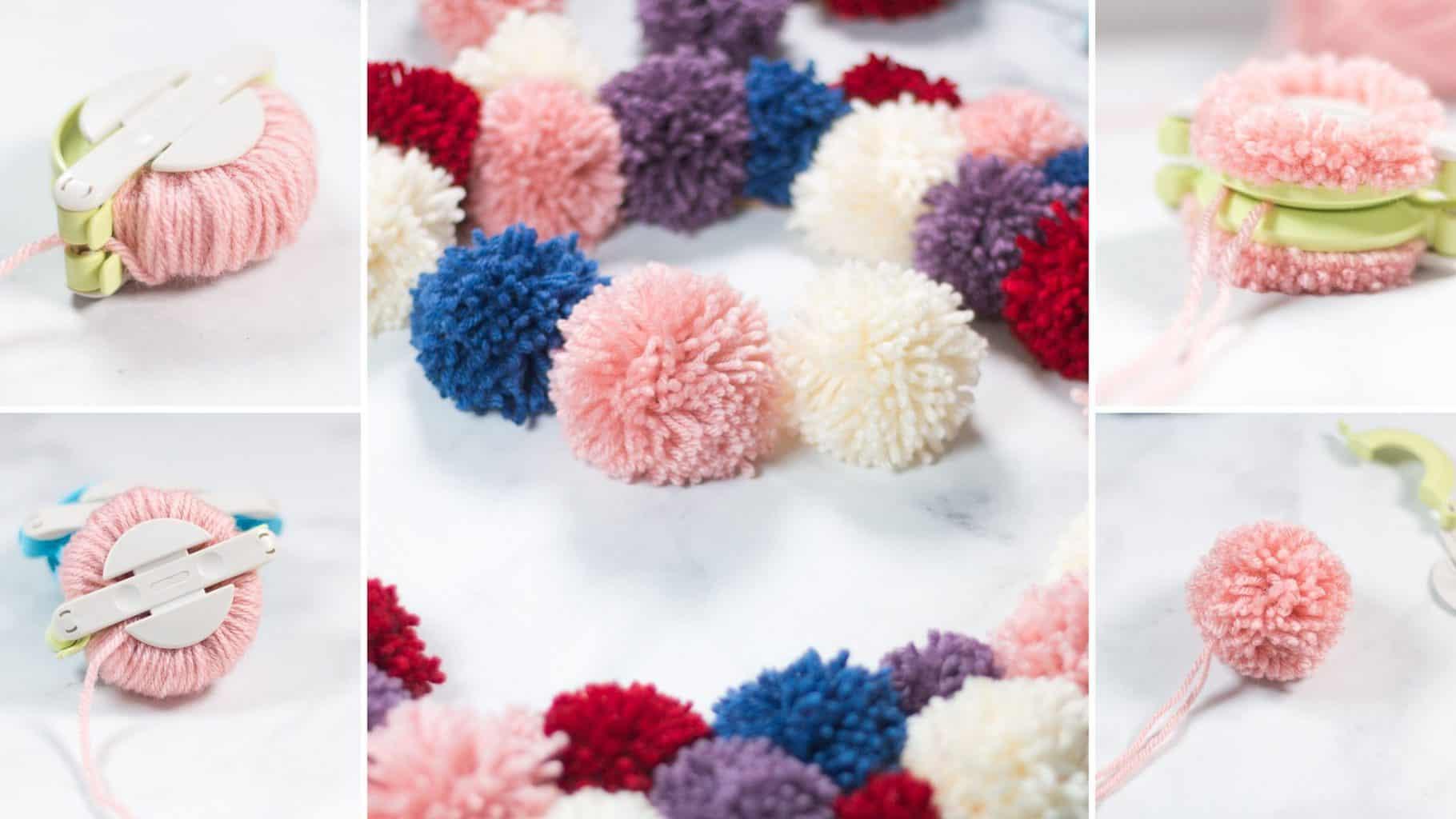 yarn pom pom diy tutorial