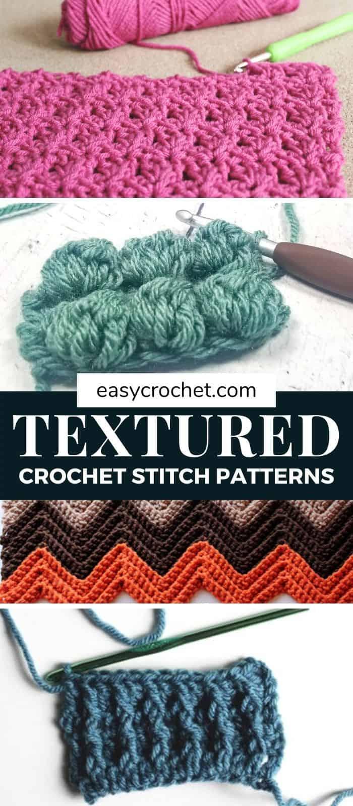 Textured Crochet Stitches via @easycrochetcom
