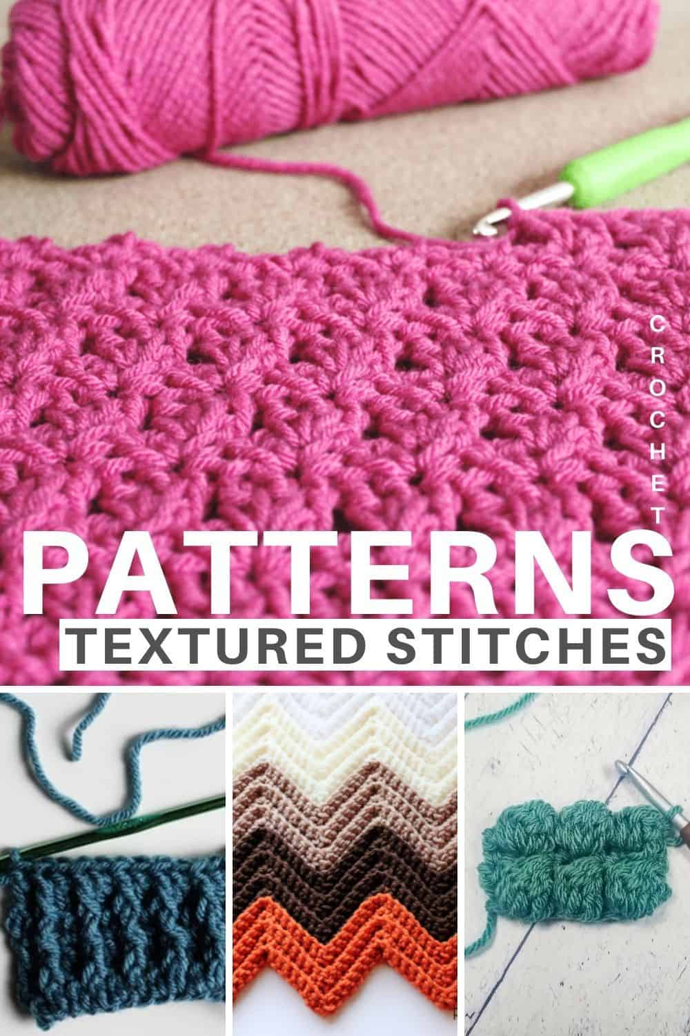 Textured Crochet Stitches for Patterns