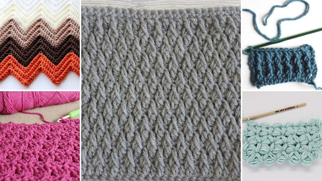 Crochet textured stitches
