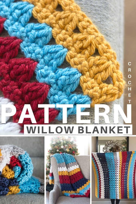 Chair Throw Crochet Blanket Pattern