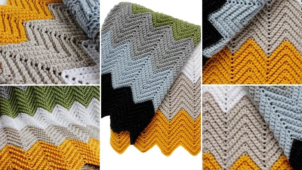 Chevron Crochet Blanket Pattern Chevron Crochet Baby Blanket Sizes