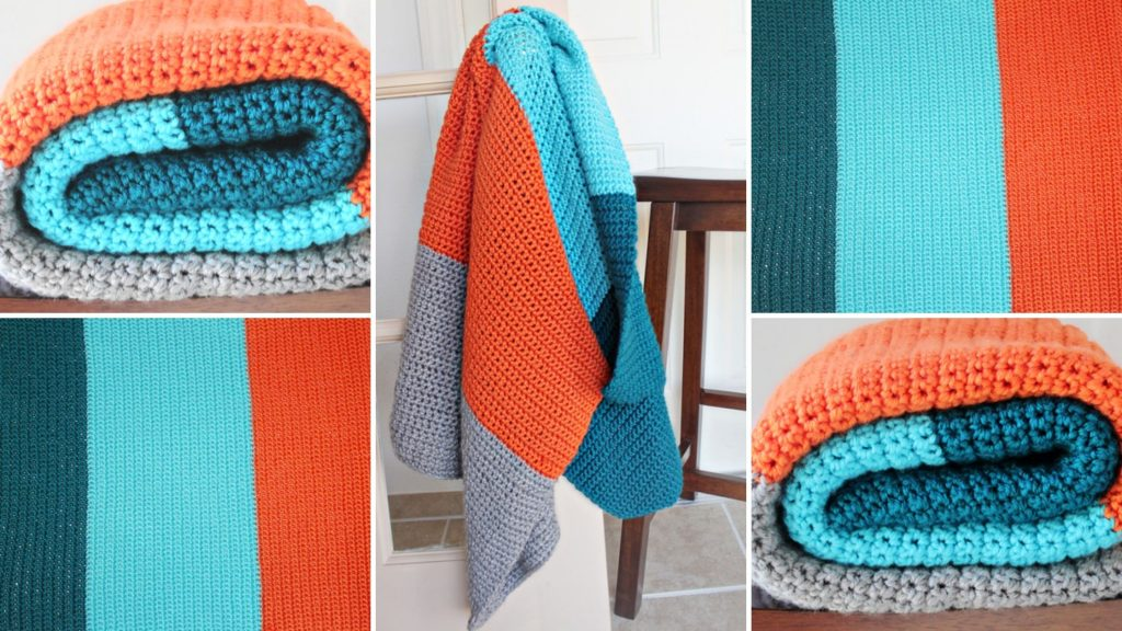 Color Blocked Crochet Blanket Pattern