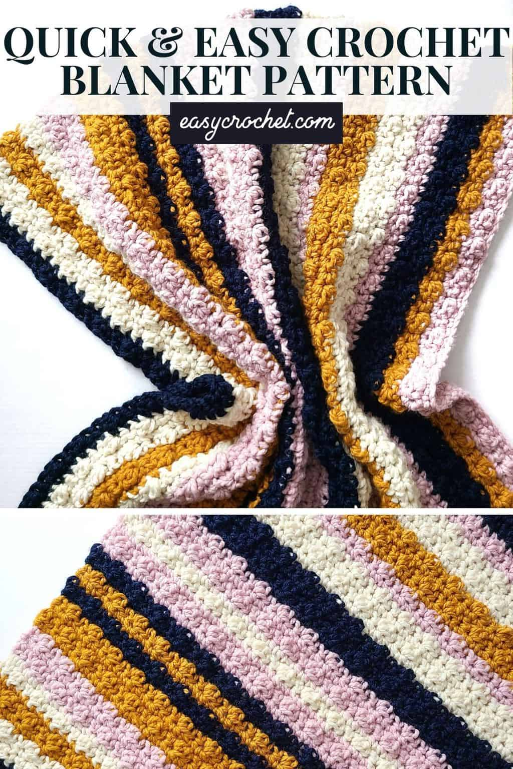 quick and easy chunky crochet blanket pattern