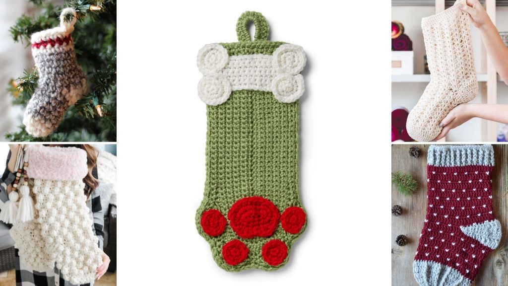 Free stocking crochet patterns for Christmas