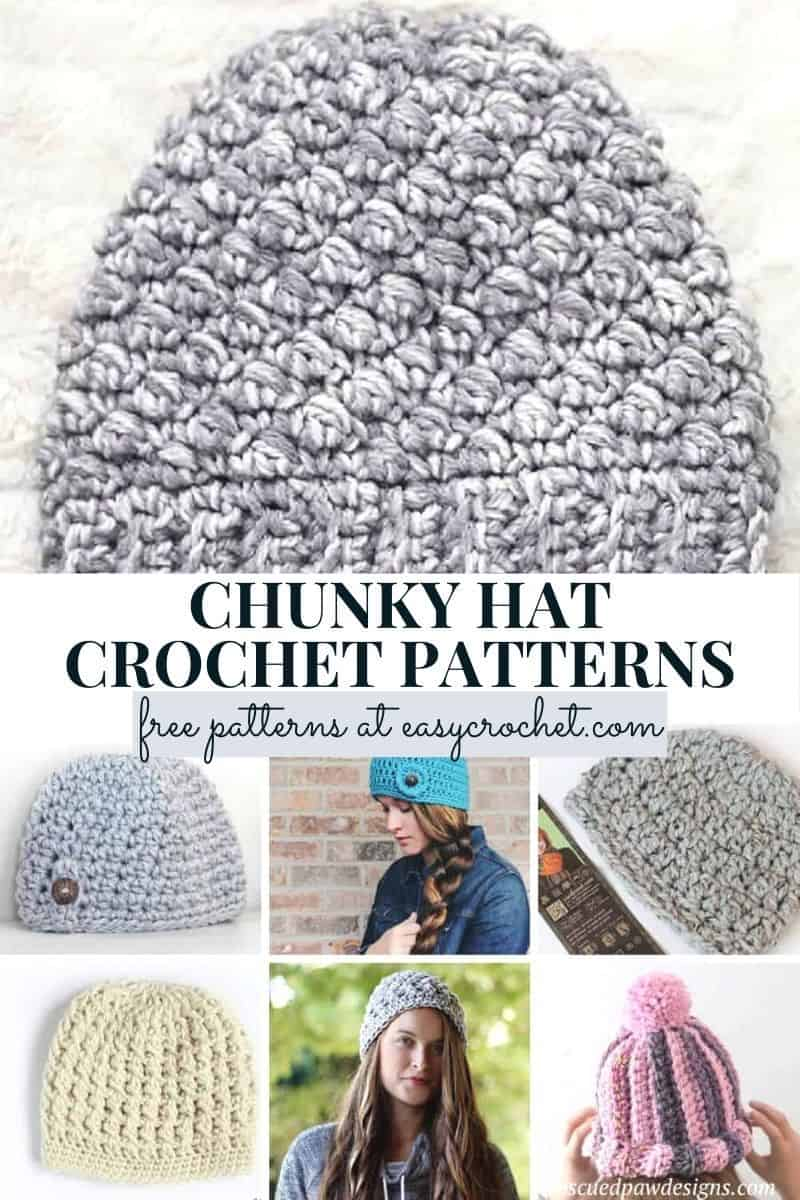 bulky yarn hat pattern crochet