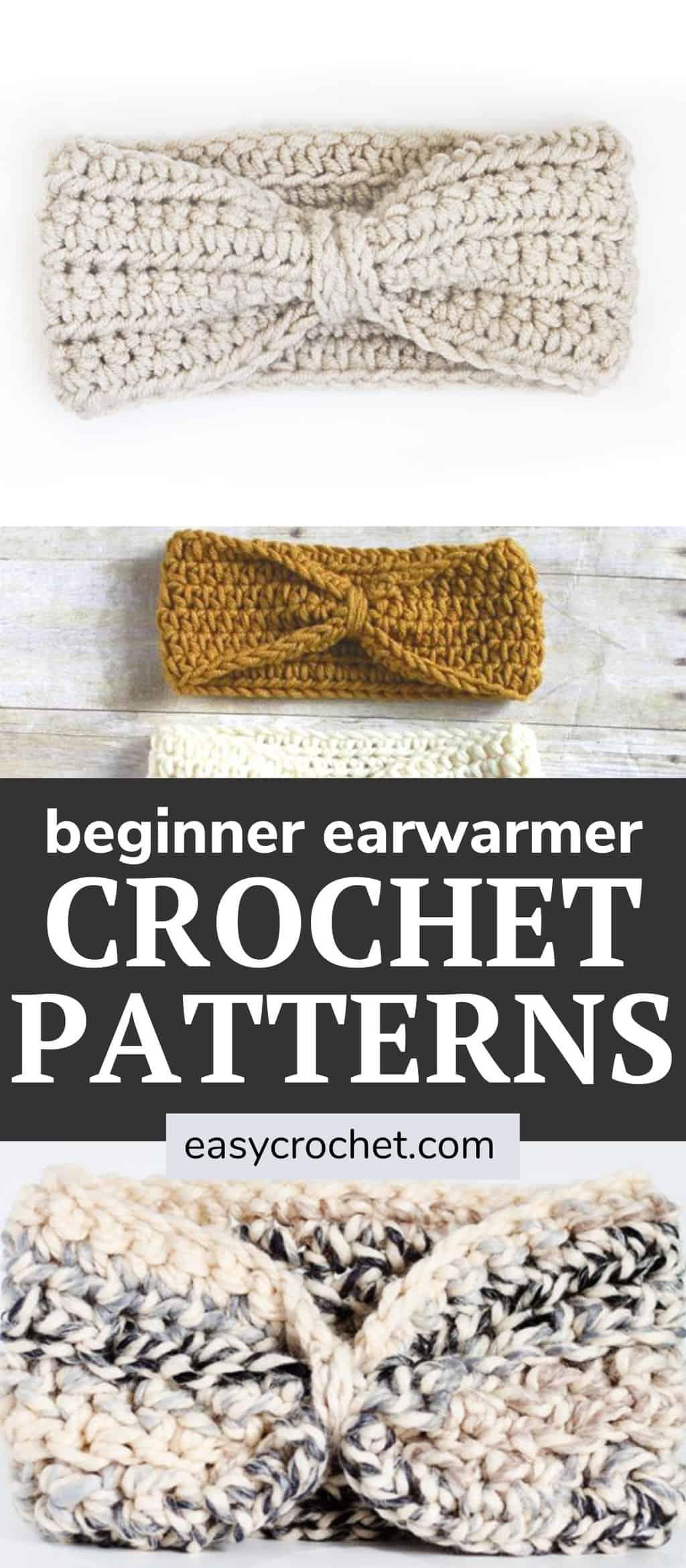 easy earwarmer crochet patterns for beginners