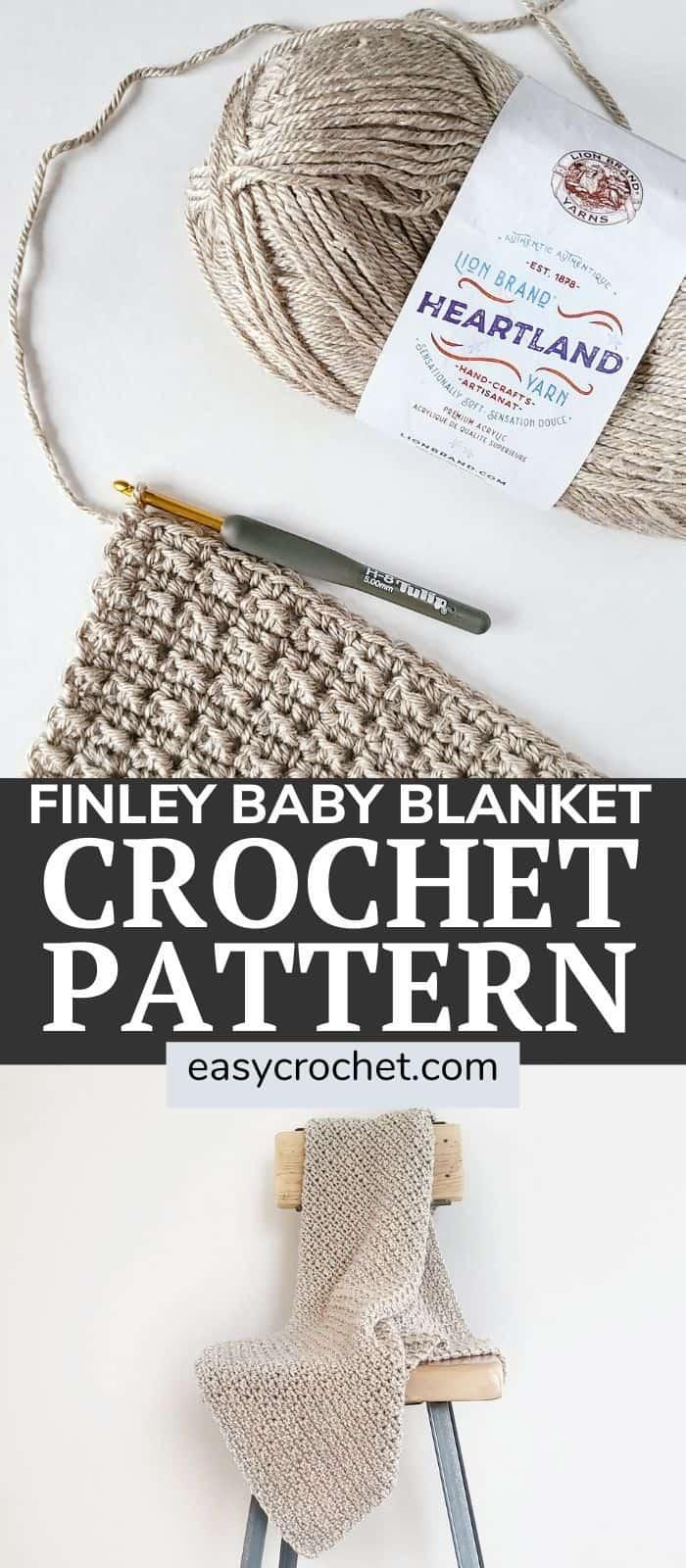 Finley Crochet Baby Blanket Pattern via @easycrochetcom