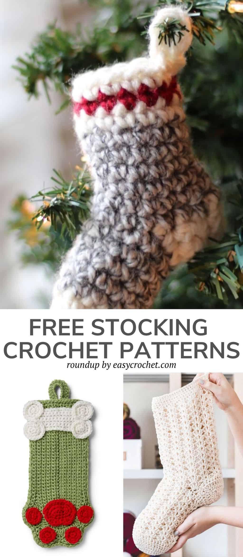 easy crochet Christmas stocking patterns