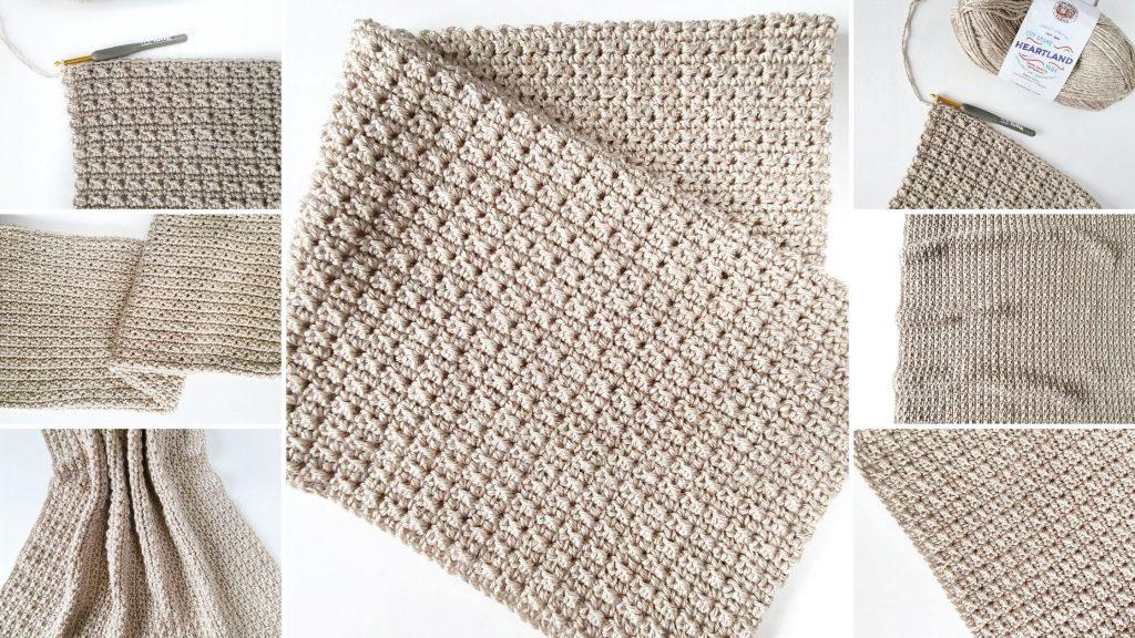 finley textured baby blanket crochet pattern