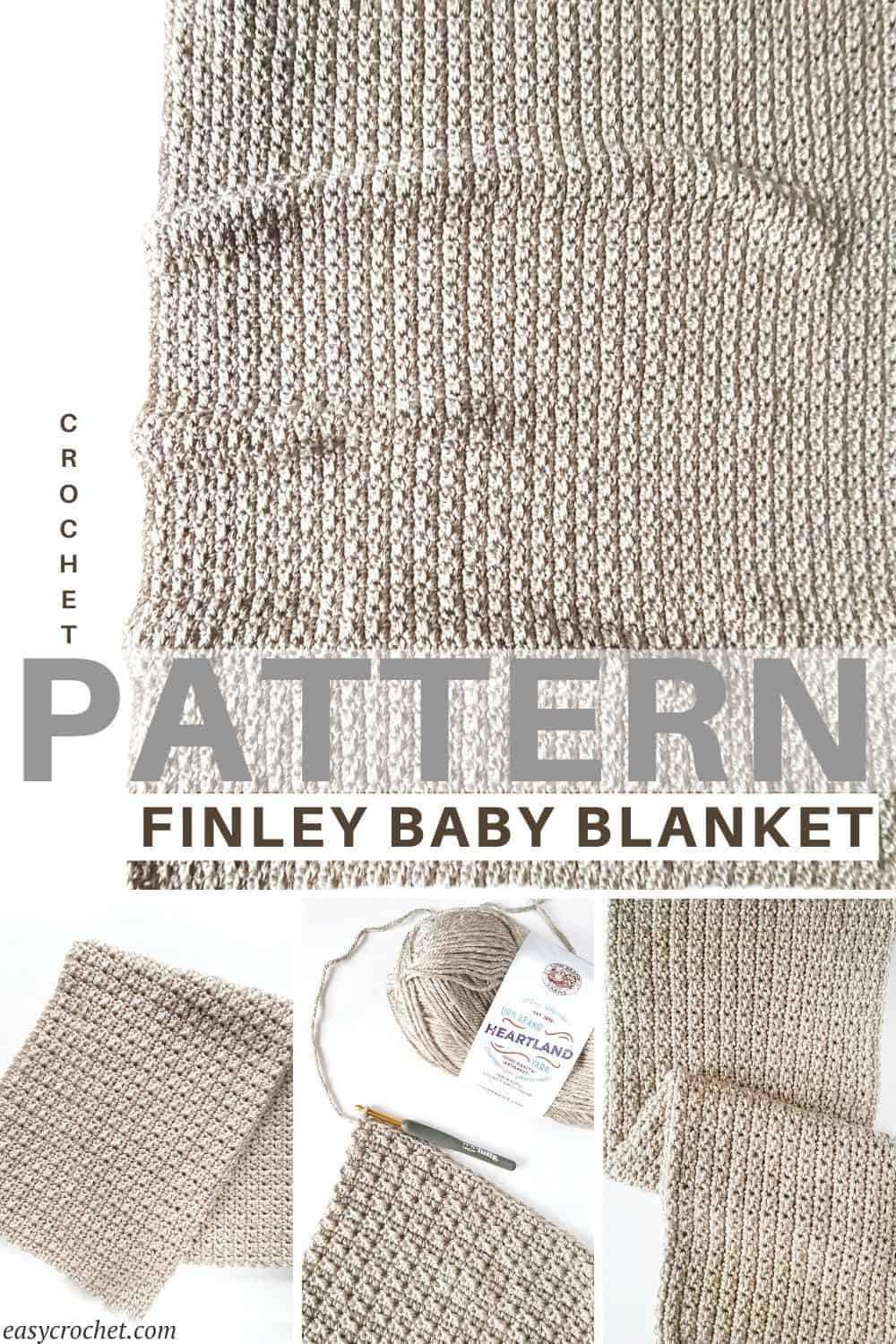 Free Crochet Baby Blanket Pattern with easy crochet stitches