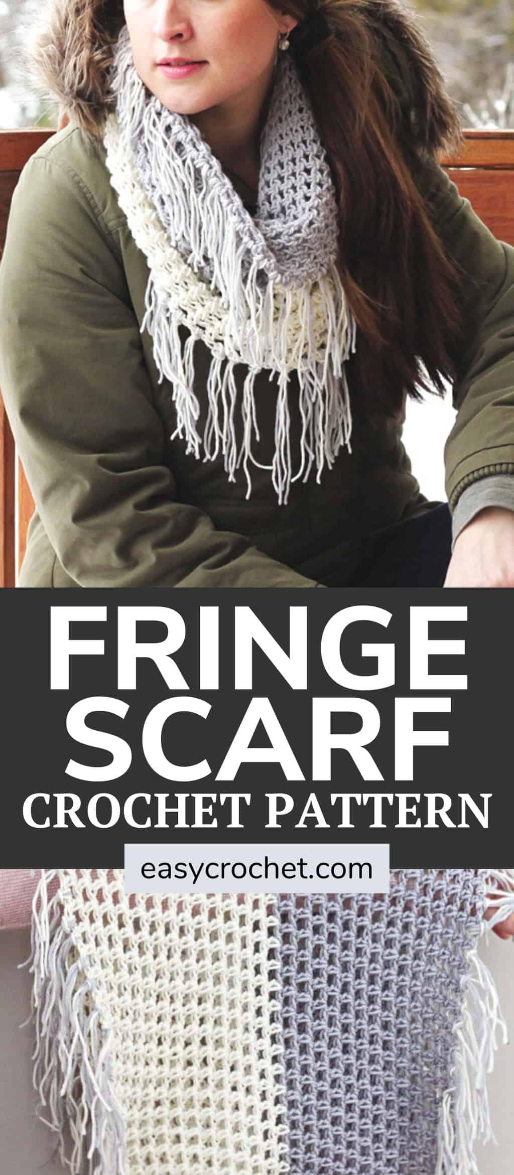 fringe cowl scarf pattern