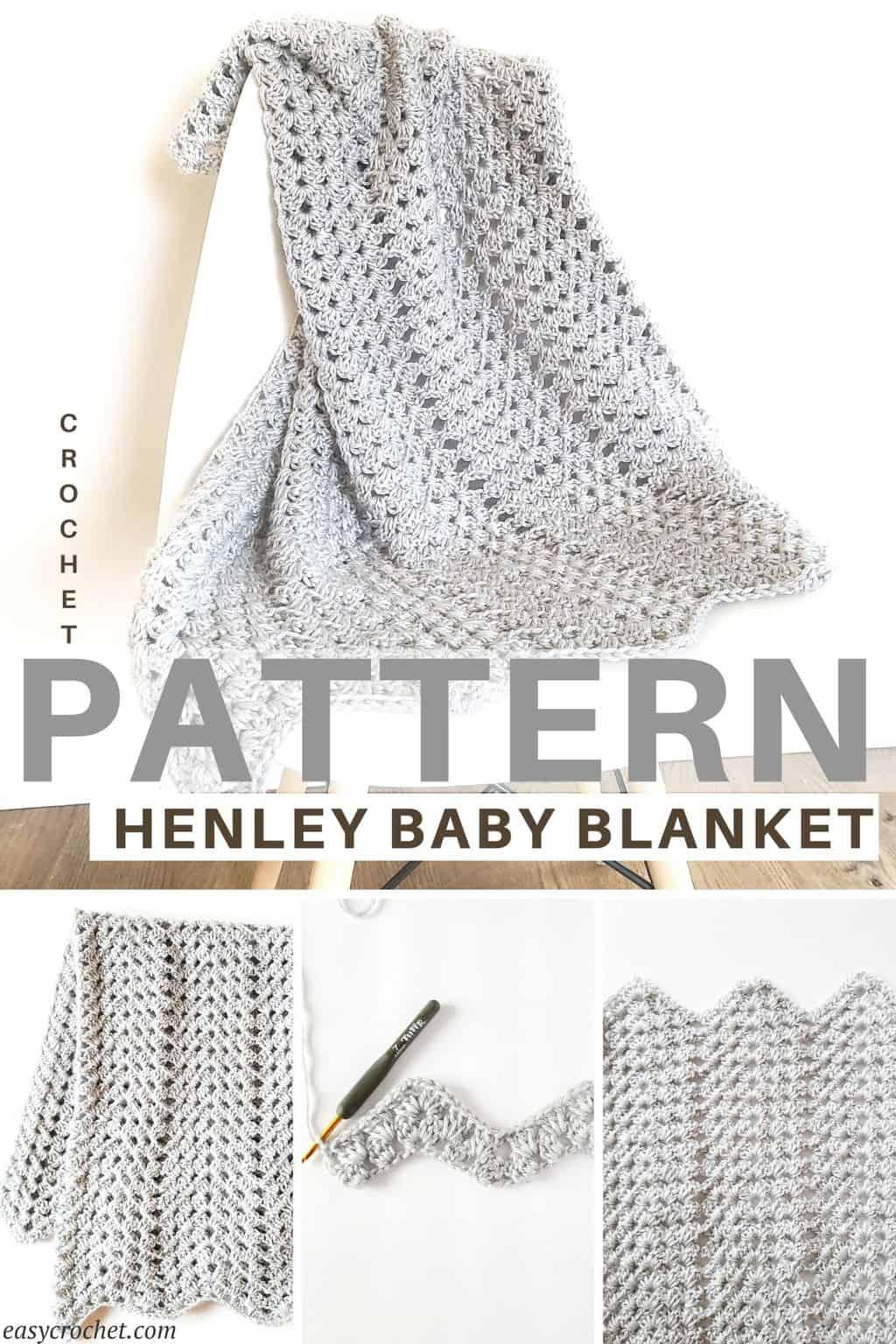 granny ripple baby blanket via @easycrochetcom