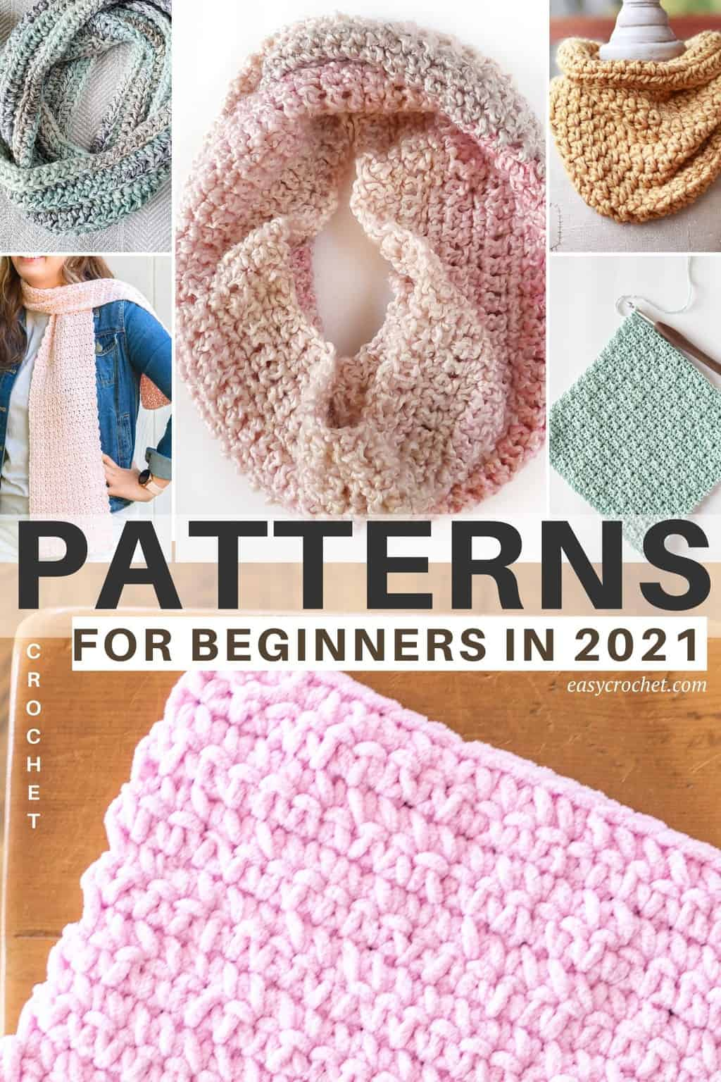 Must make beginner crochet projects for 2021! All free crochet patterns such as blankets, cowls, and more! via @easycrochetcom