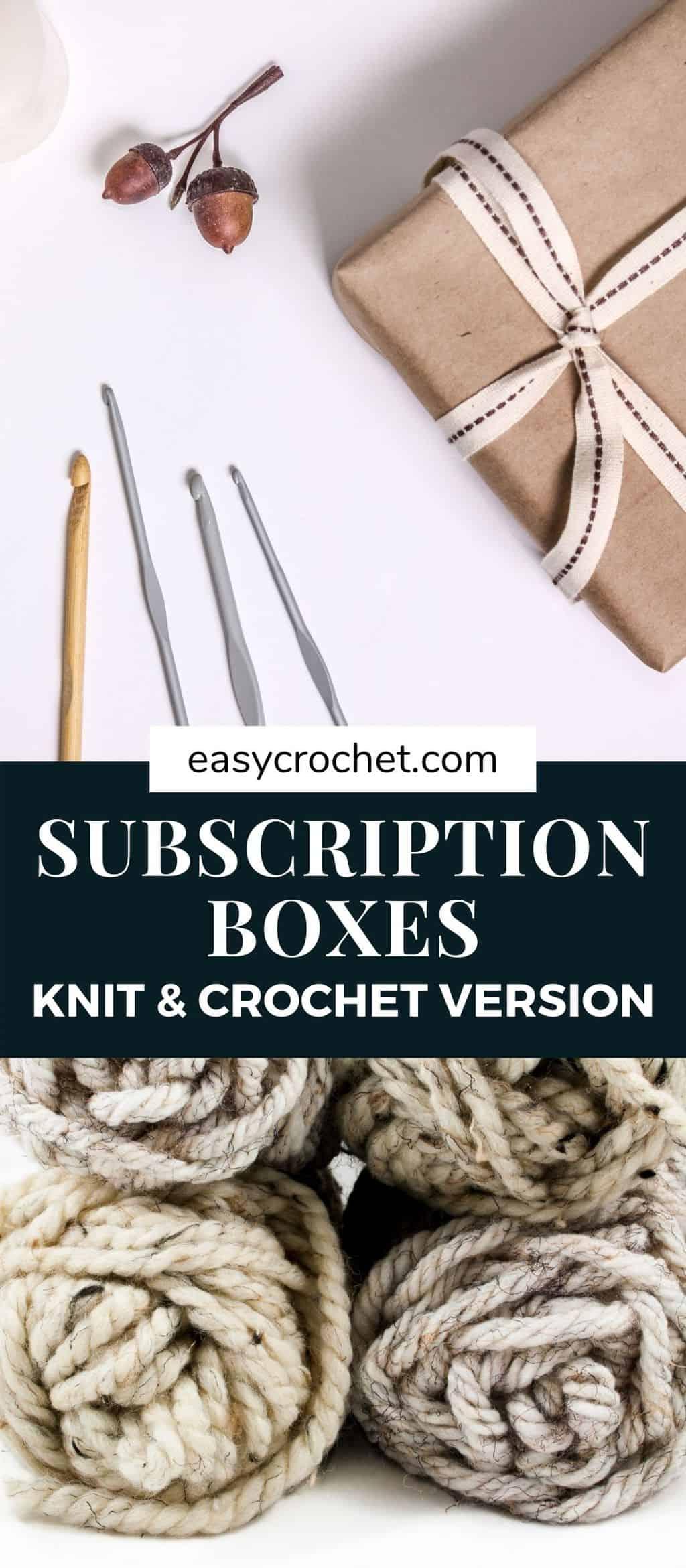 yarn crochet knit subscription boxes via @easycrochetcom