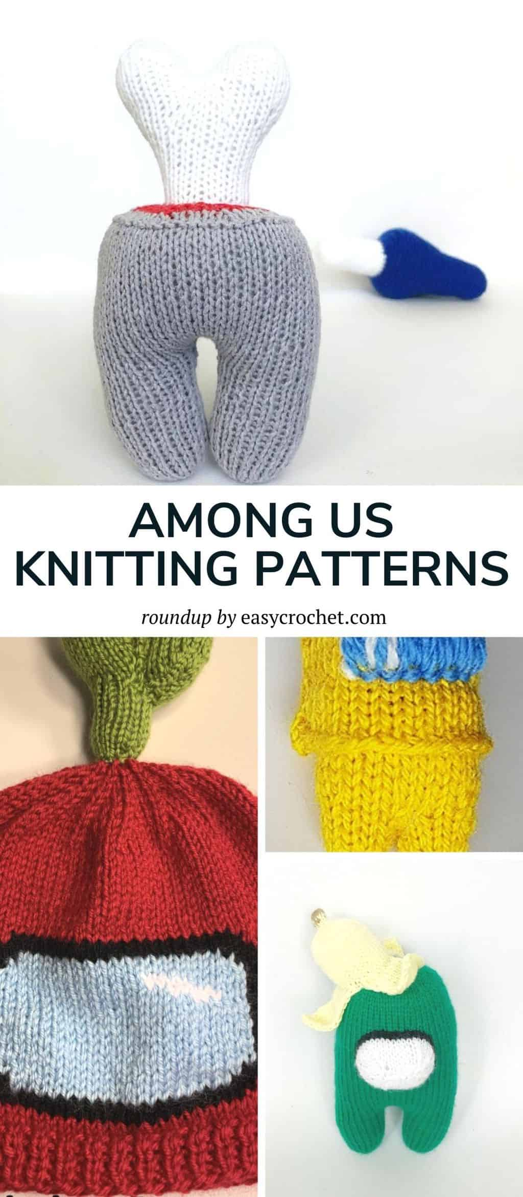 knit among us patterns