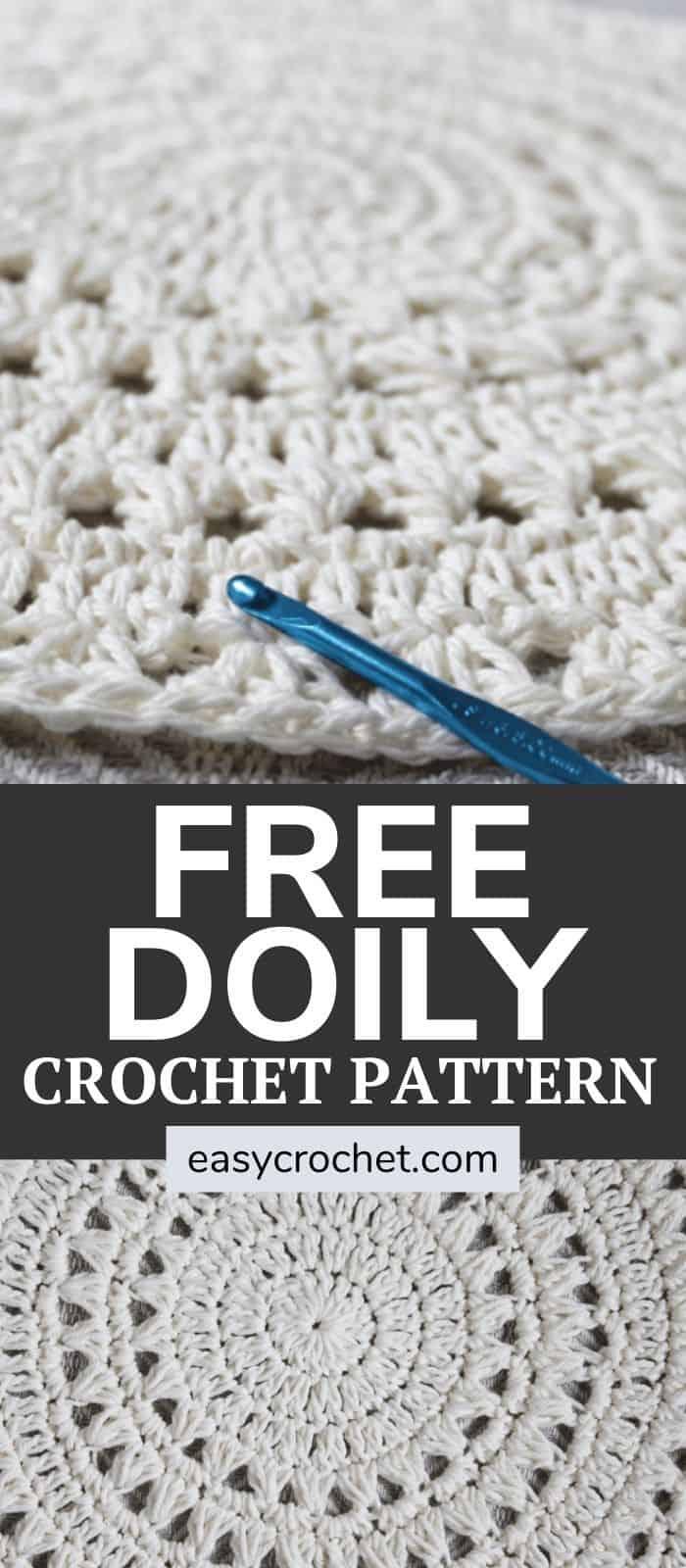 Free Doily Crochet Pattern by Easy Crochet via @easycrochetcom