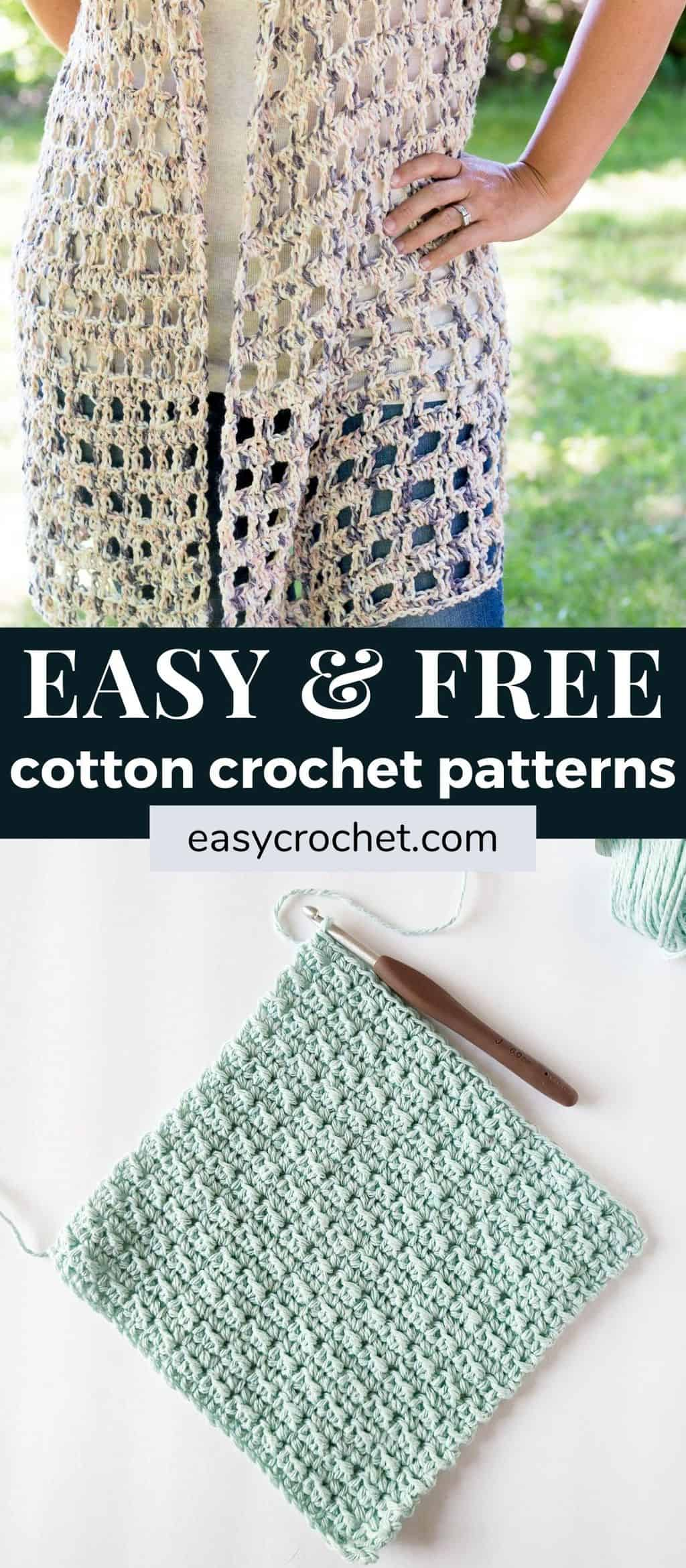 cotton yarn crochet patterns via @easycrochetcom
