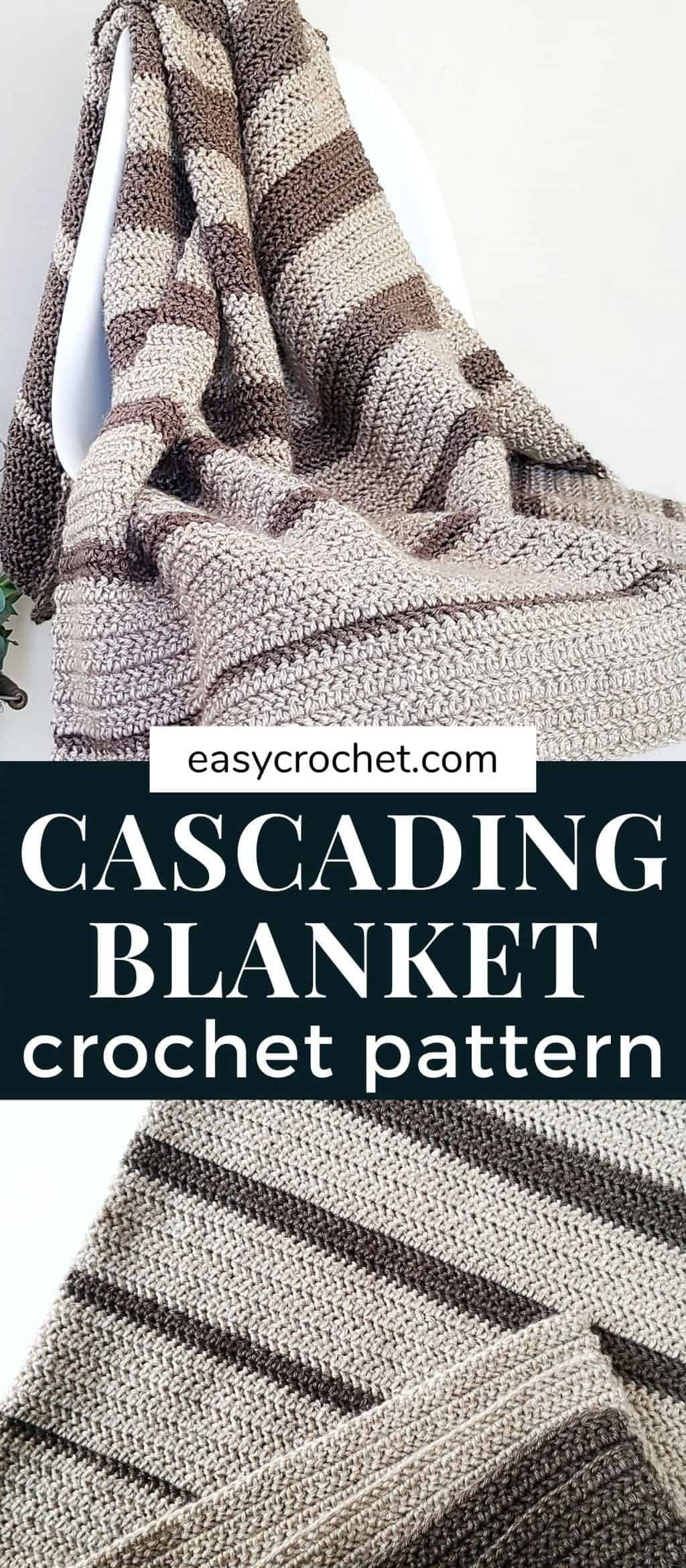 Cascading Stripes Blanket Crochet Pattern via @easycrochetcom
