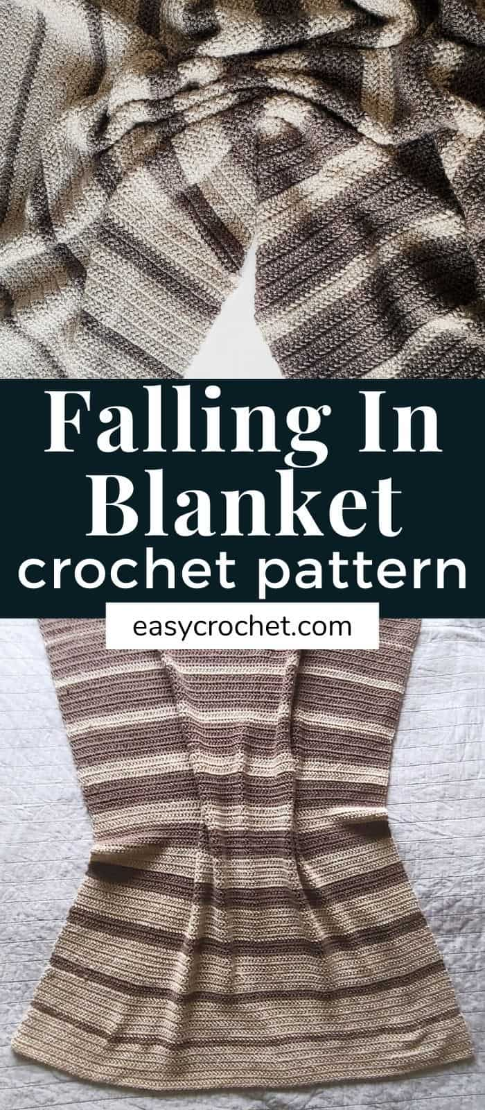 Falling Stripes Crochet Blanket via @easycrochetcom
