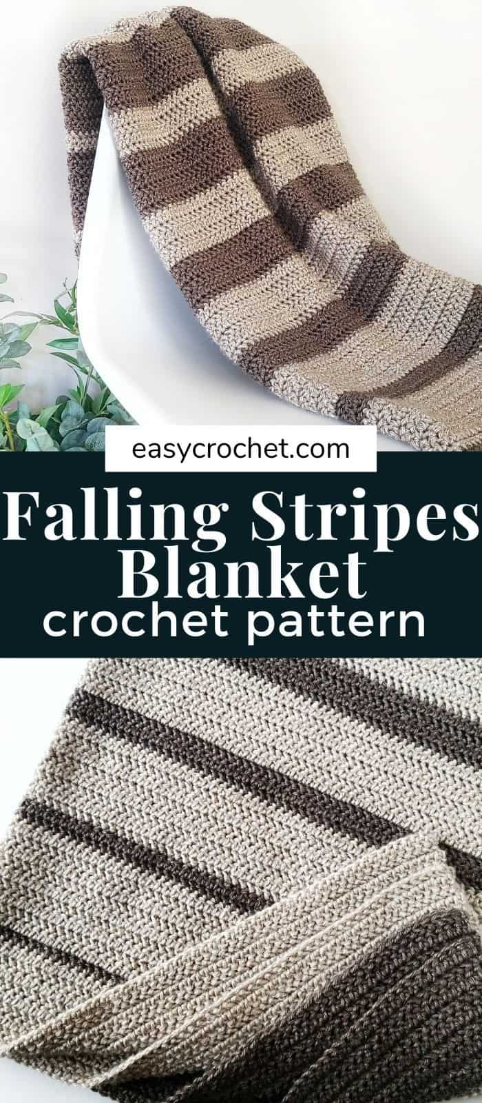 Falling In Crochet Blanket Pattern via @easycrochetcom