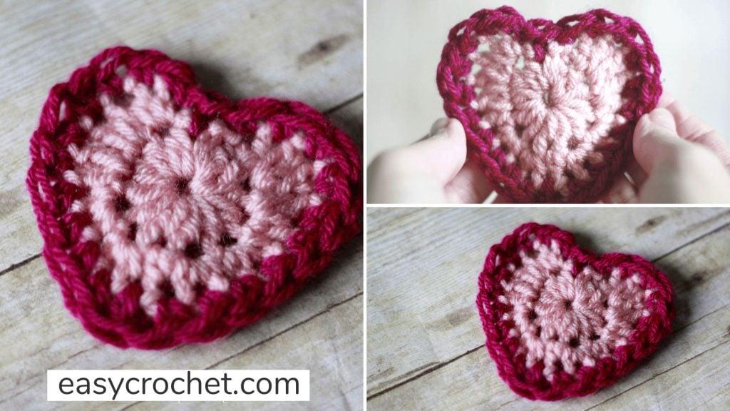 how to make a crochet heart