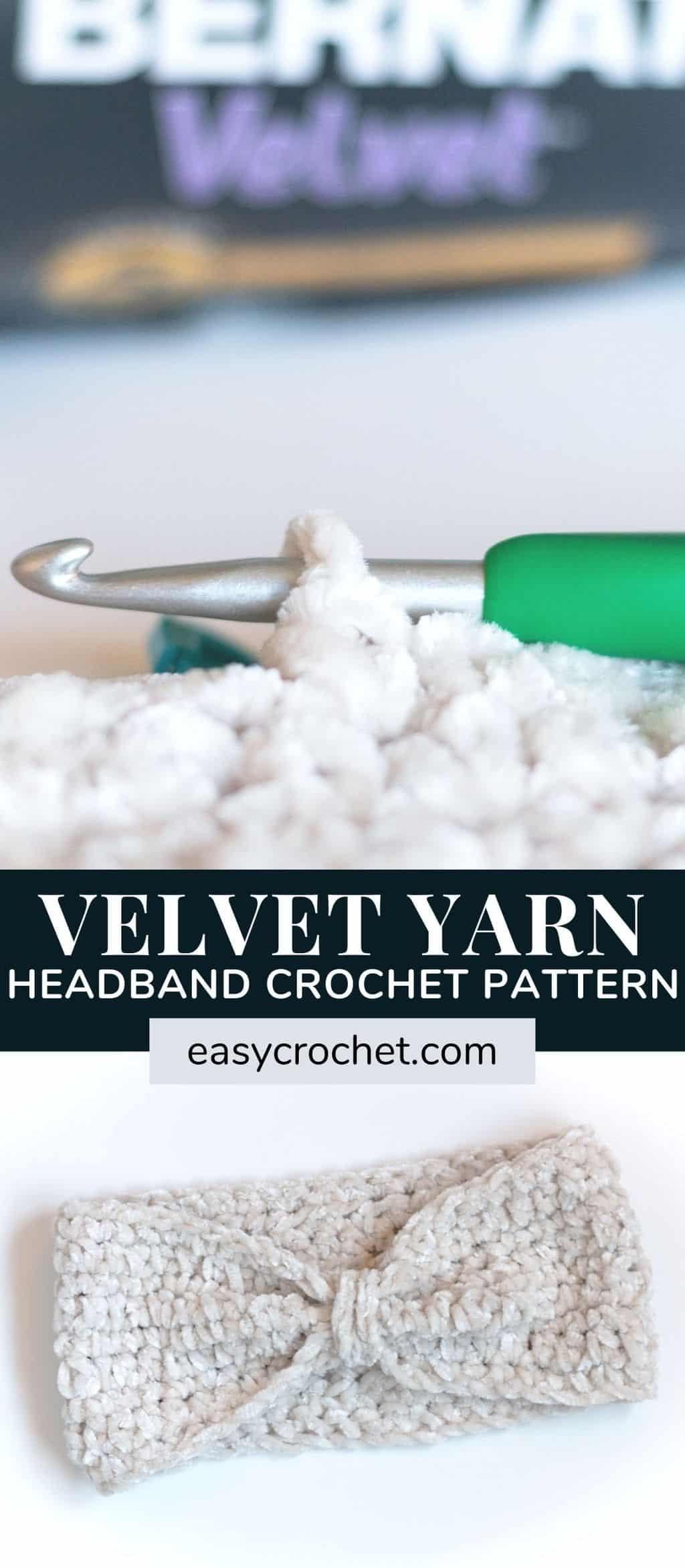 bernat velvet yarn headband patten