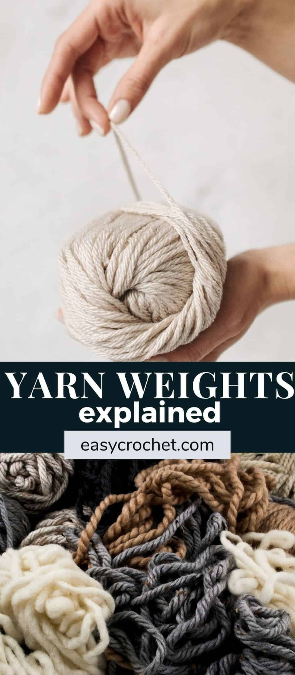 Yarn weights explained