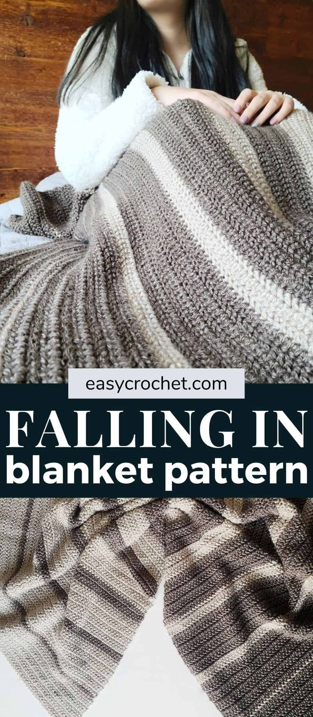 striped crochet blanket pattern via @easycrochetcom