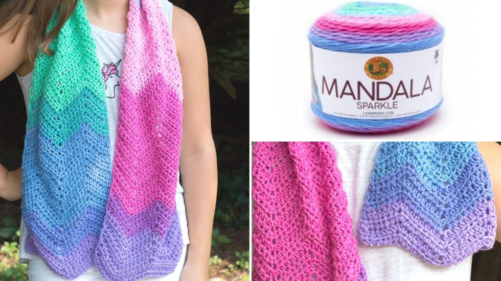 Mandala Yarn Scarf Crochet Pattern