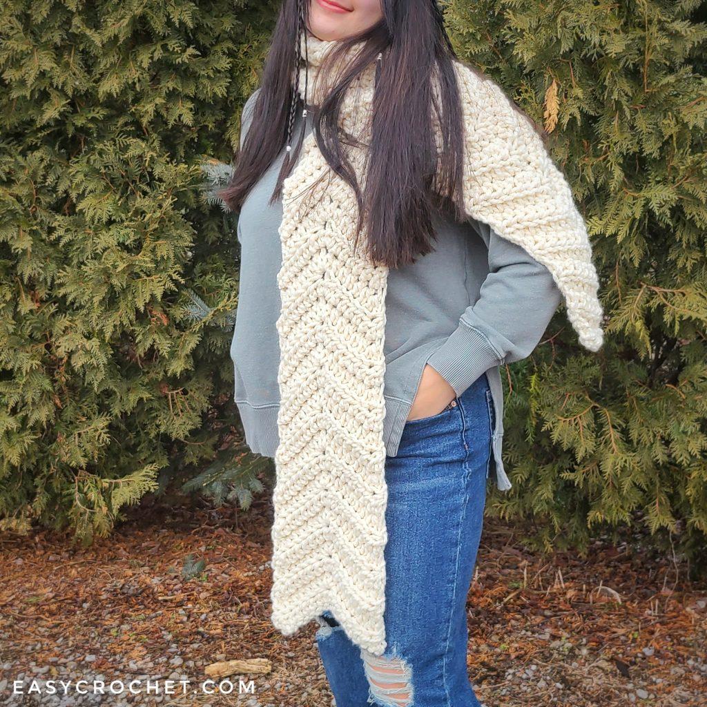 chunky yarn scarf crochet pattern