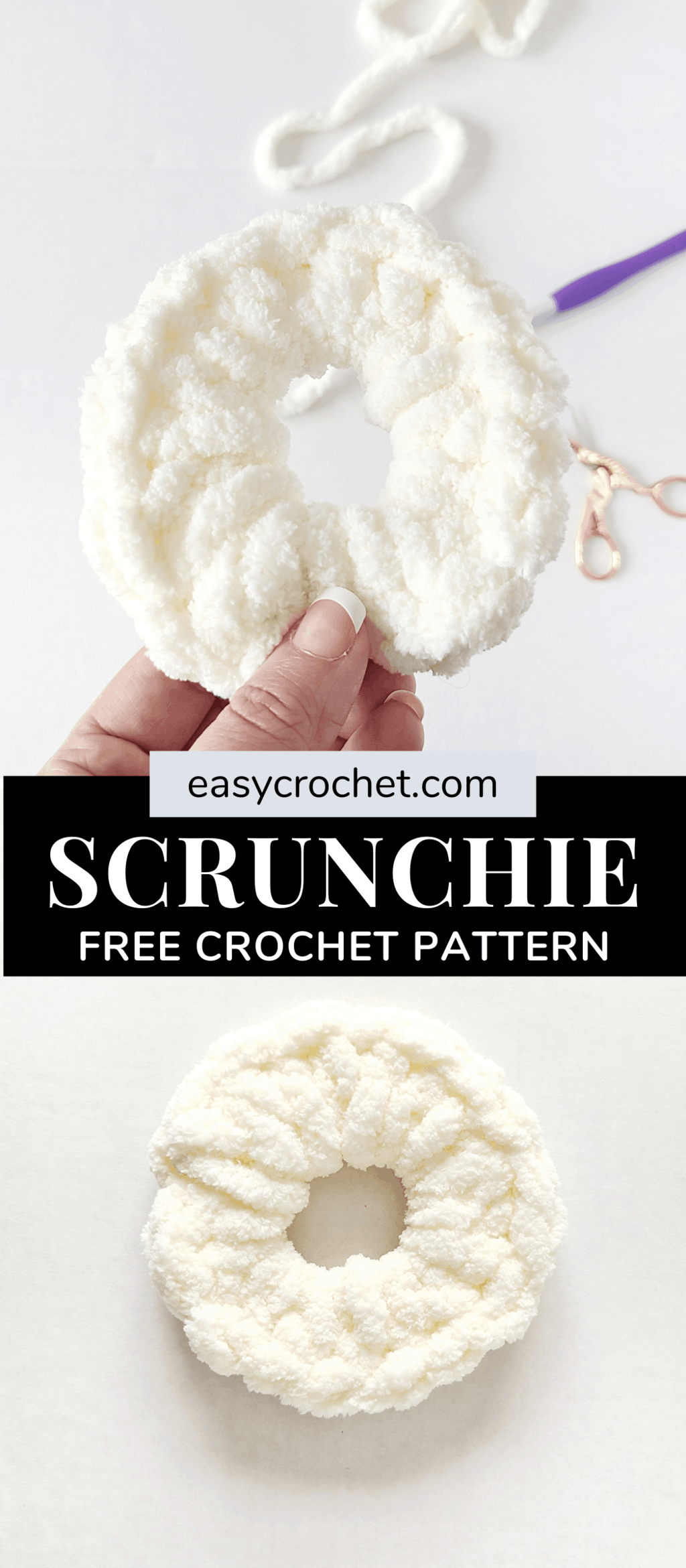 crochet hair scrunchie pattern