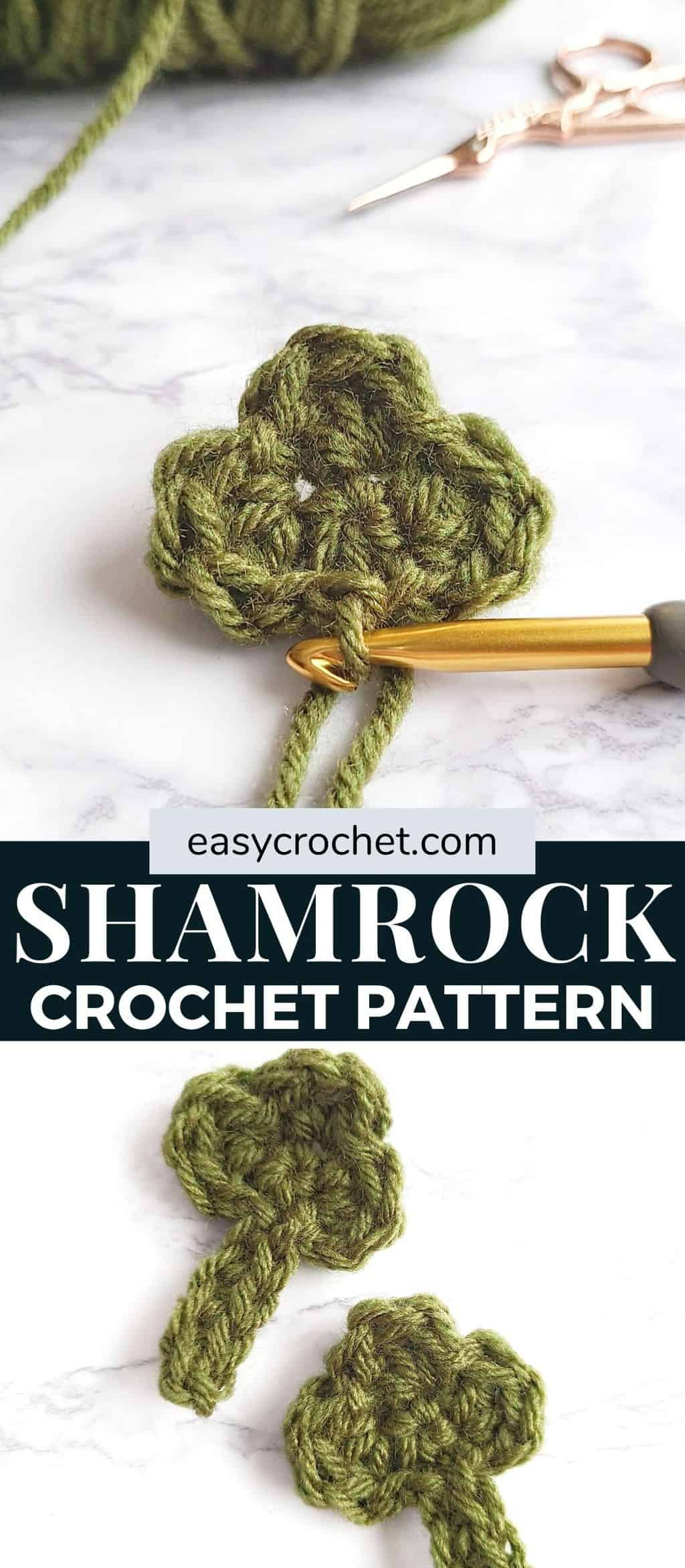 shamrock three leaf design crochet pattern