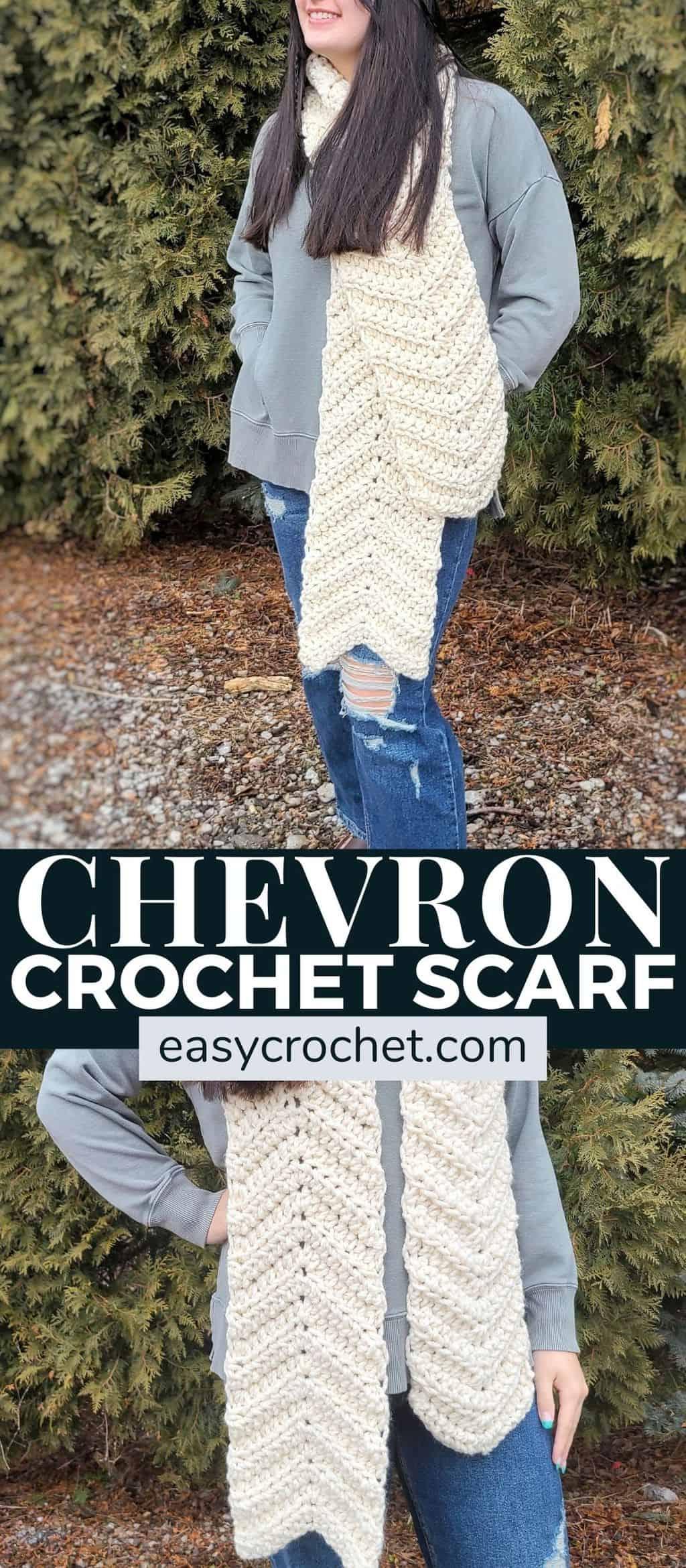 super bulky yarn crochet scarf