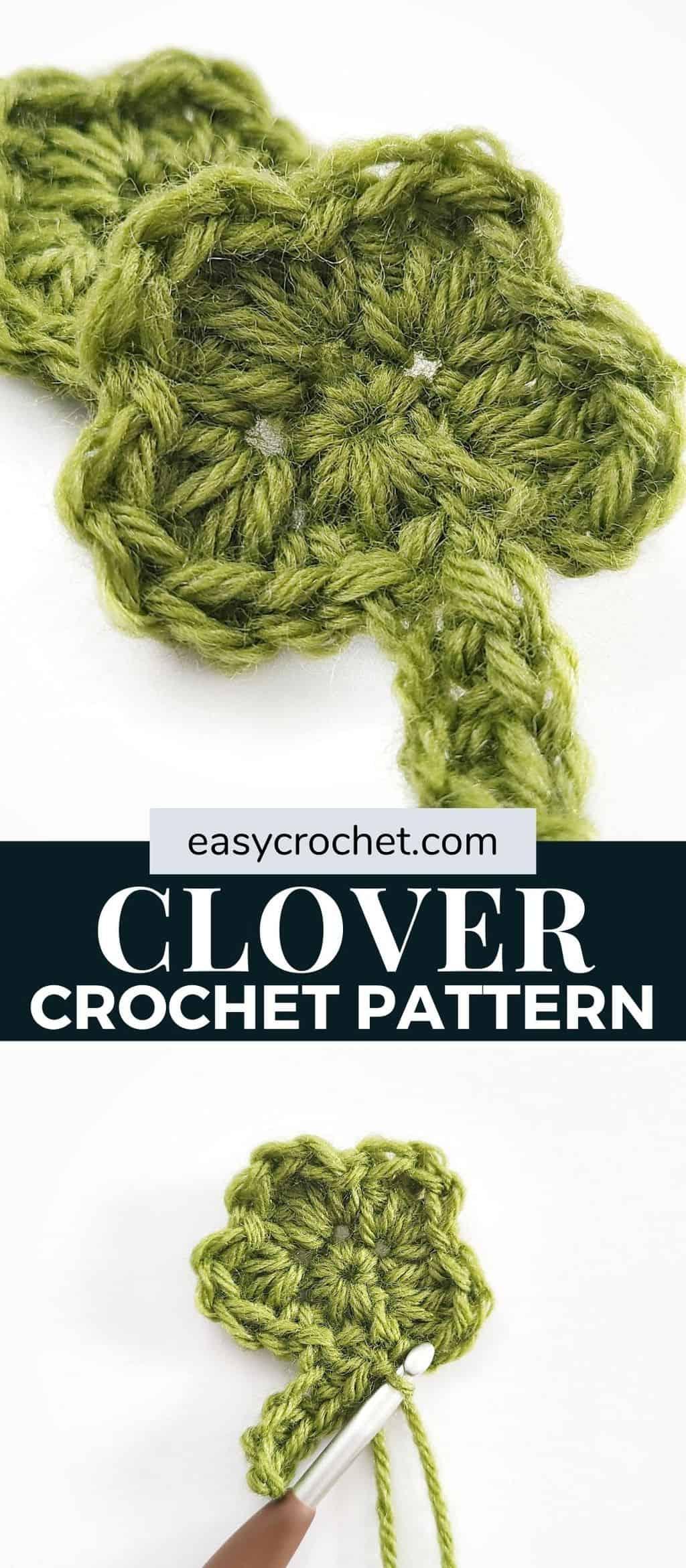 crochet clover pattern