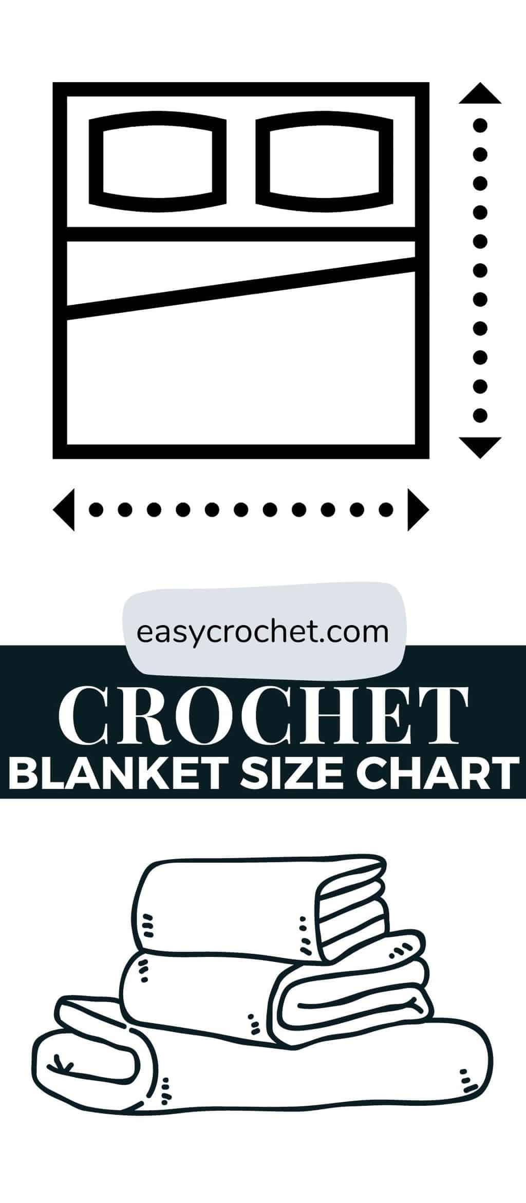 crochet blanket size chart