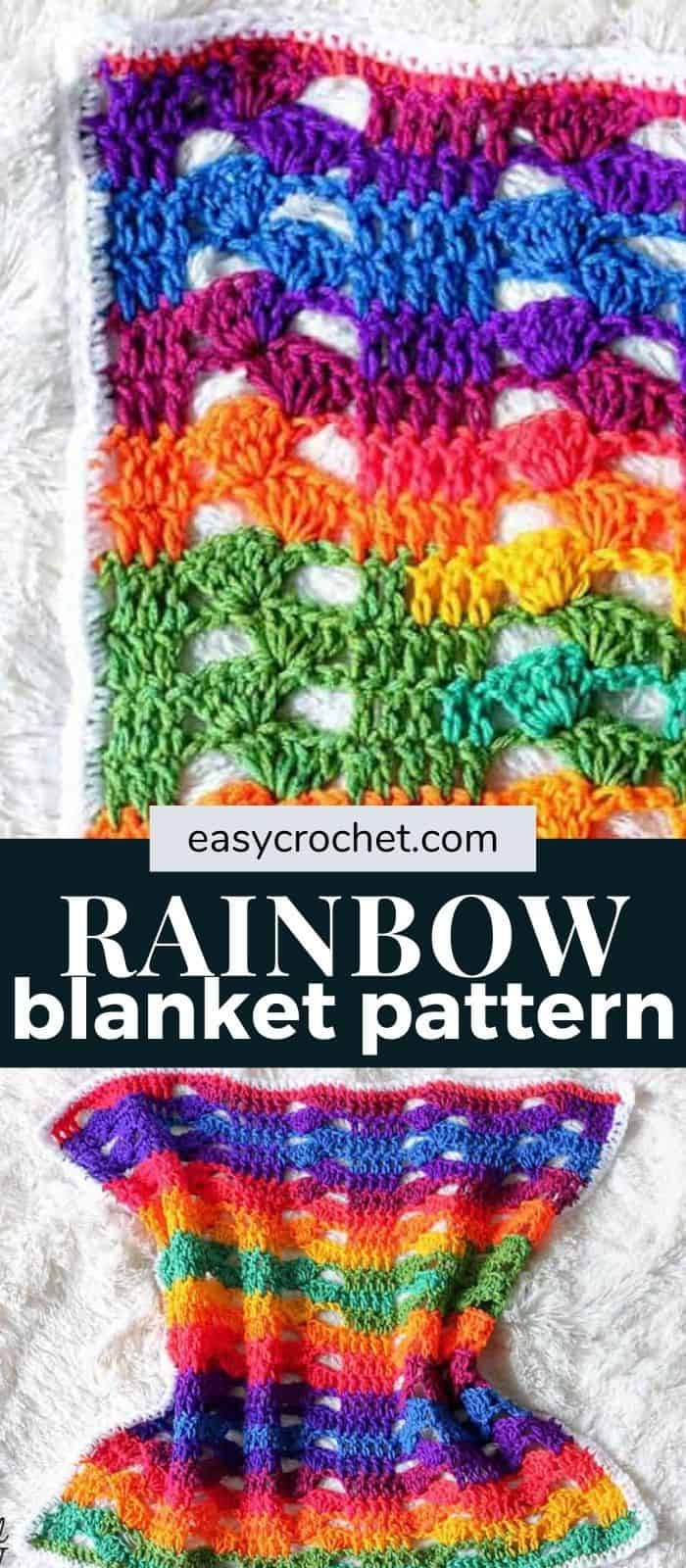 rainbow crochet blanket pattern