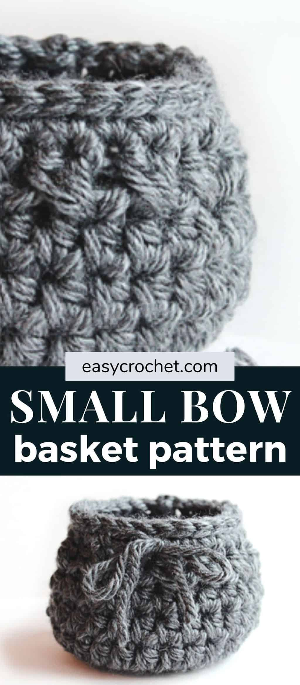 small bow basket crochet pattern