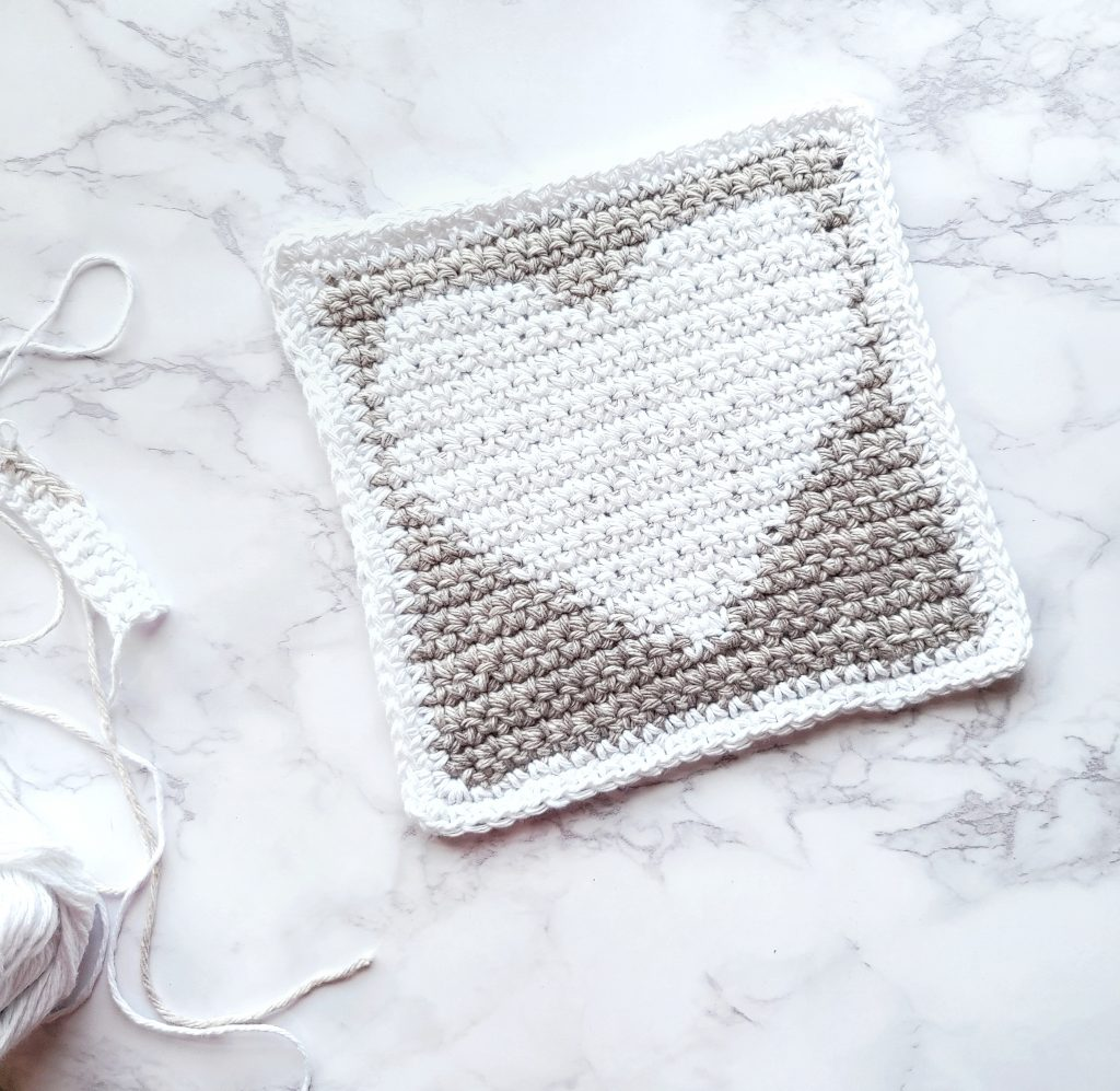 Heart dishcloth pattern and tutorial