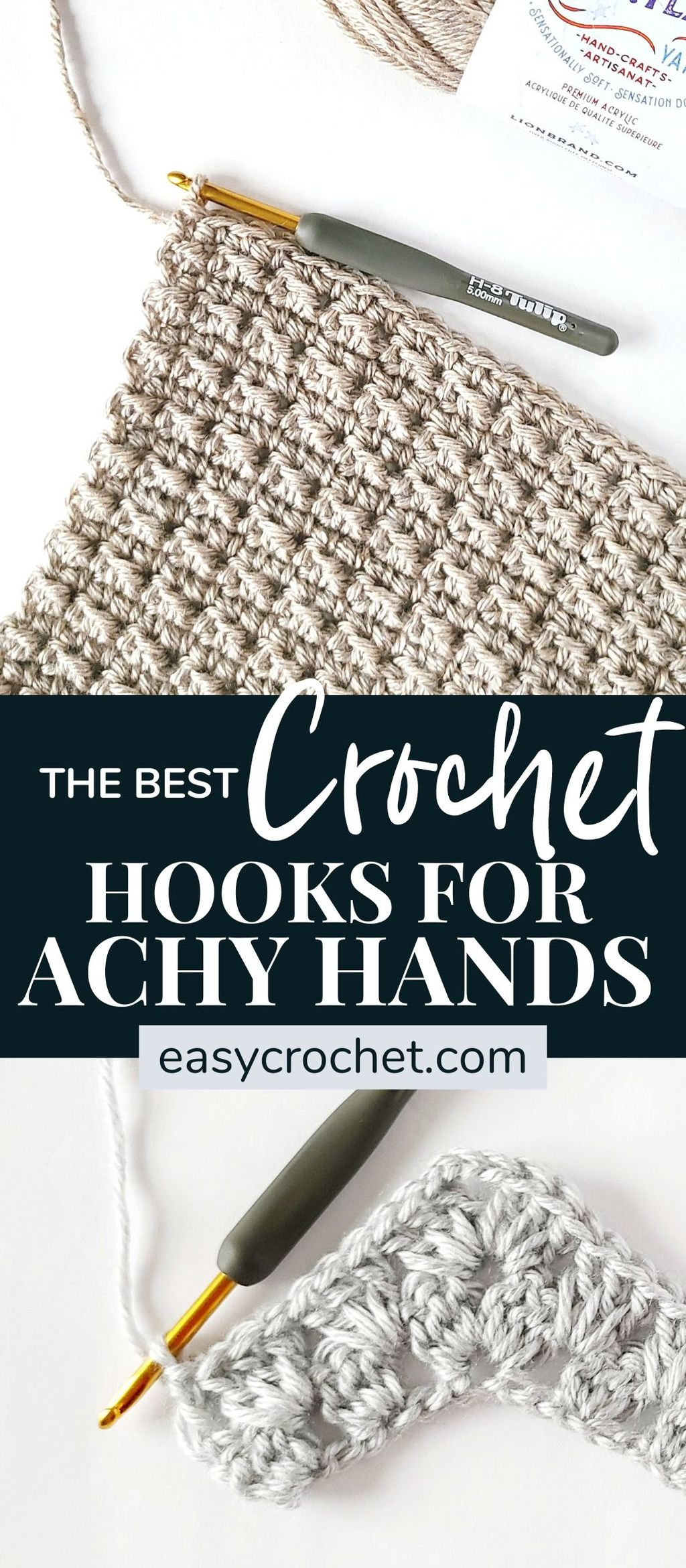 The Best Ergonomic Crochet Hooks via @easycrochetcom