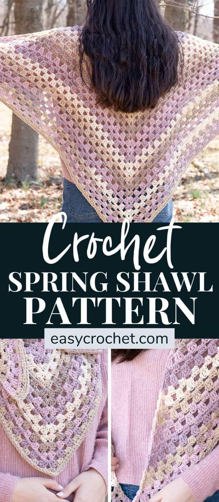 Easy Crochet Shawl Pattern for Spring via @easycrochetcom
