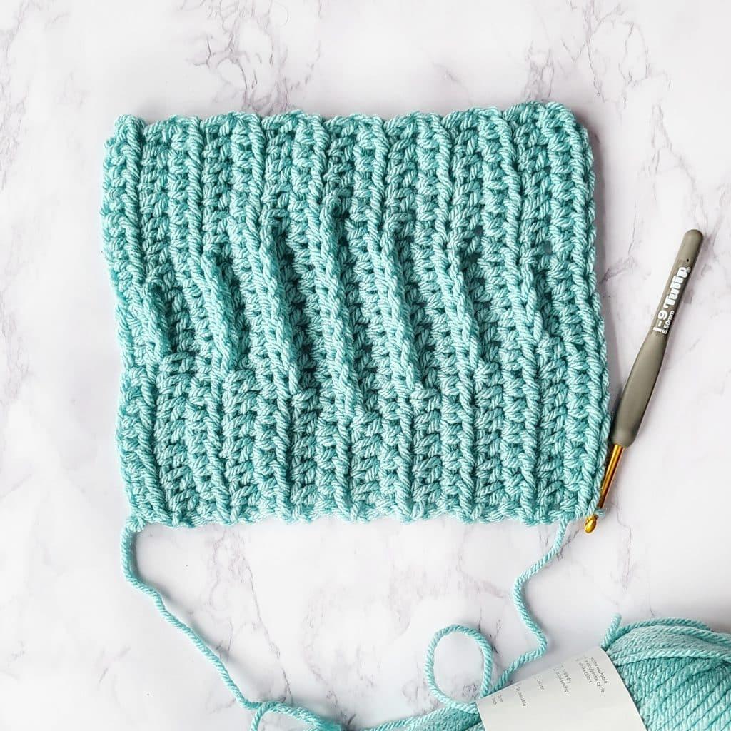 calentar américa crochet rectángulo sección patrón libre