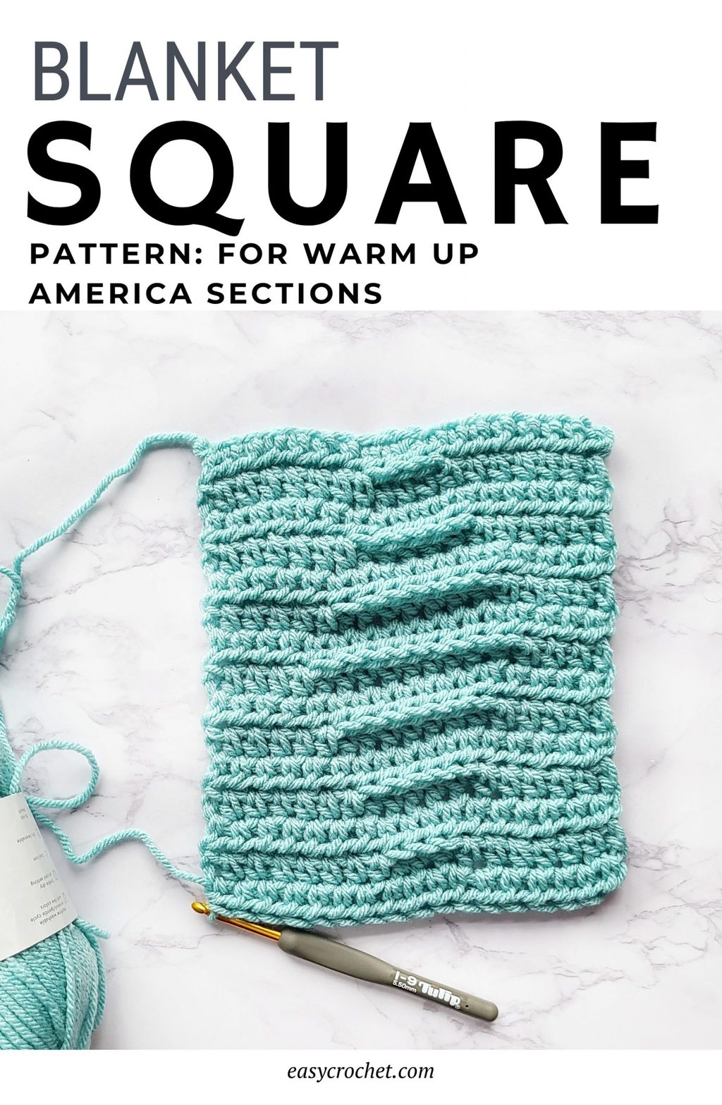 easy crochet blanket square rectangle pattern